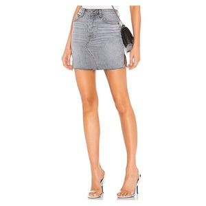 GRLFRND Blaire High Rise Grey Denim Skirt